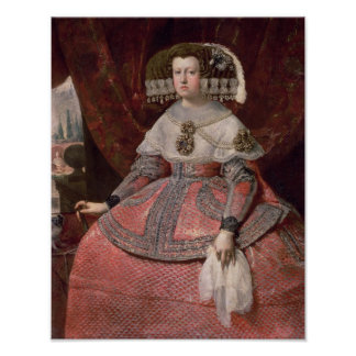 Queen Maria Anna of Spain in a red dress Poster