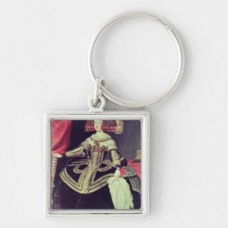 Queen Mariana of Austria  c.1653 Silver-Colored Square Keychain