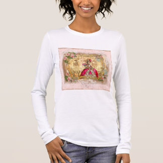Queen Marie Antoinette at Versailles Party in Pink Long Sleeve T-Shirt