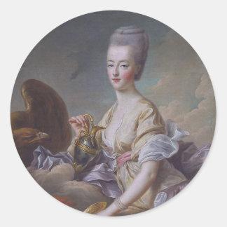 Queen Marie Antoinette by François Hubert Drouais Classic Round Sticker