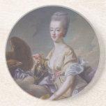 Queen Marie Antoinette by François Hubert Drouais Drink Coaster