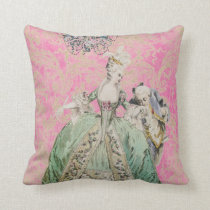 Queen Marie Antoinette COLOR & STYLE OPTIONS - Throw Pillow