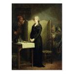 Queen Marie Antoinette in the Conciergerie Postcard