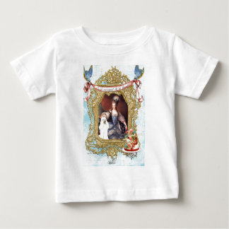 Queen Marie Antoinette White Poodle n Cake Baby T-Shirt