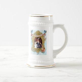 Queen Marie Antoinette White Poodle n Cake Beer Stein