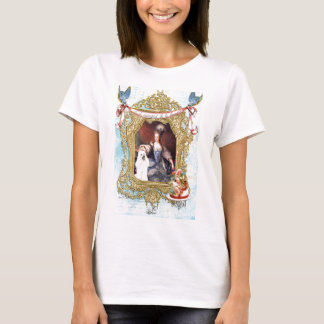 Queen Marie Antoinette White Poodle n Cake T-Shirt