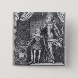 Queen Marie de Medicis and Louis XIII as a Button