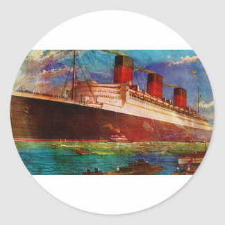 QUEEN MARY 1 CLASSIC ROUND STICKER