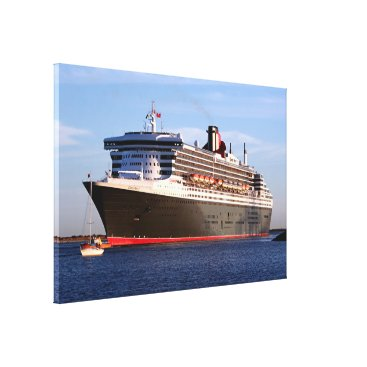 franwestphotography Queen Mary 2 Cruise Ship Canvas Print