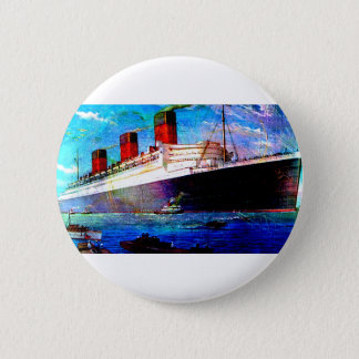 QUEEN MARY 2 PINBACK BUTTON