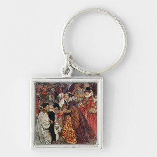Queen Mary and Princess Elizabeth entering Keychain