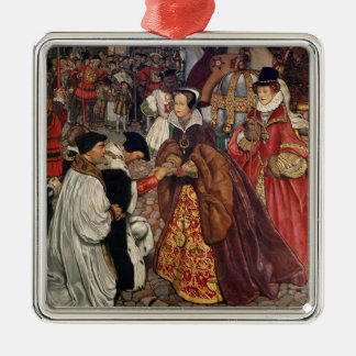 Queen Mary and Princess Elizabeth entering Metal Ornament