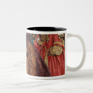 Queen Mary and Princess Elizabeth entering Two-Tone Coffee Mug