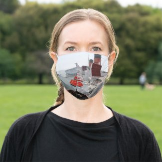 Queen Mary Cruise Ship Cloth Face Mask