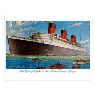 Queen Mary de la línea blanca de la estrella de Tarjetas Postales