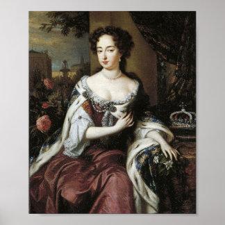Queen Mary Estuardo II de la impresión de