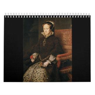 Queen Mary I de Inglaterra Maria Tudor por el MOR Calendarios