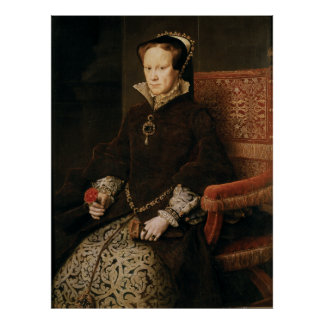 Queen Mary I de Inglaterra Maria Tudor por el MOR Póster