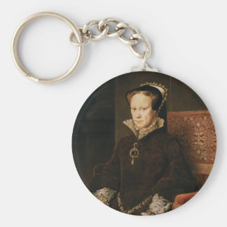 Queen Mary I of England Maria Tudor by Antonis Mor Keychain