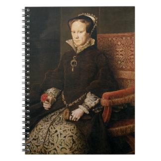 Queen Mary I of England Maria Tudor by Antonis Mor Notebook