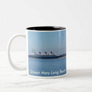 Queen Mary Long Beach Taza De Café De Dos Colores
