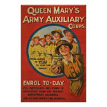 Queen Mary's Army Auxiliary United Kingdom WWI Print