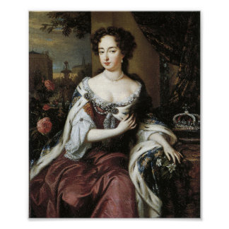 Queen Mary Stuart II of England Print