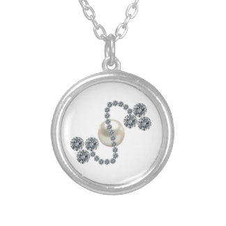 Queen Mary's Three Leaf Clover Bar Brooch Round Pendant Necklace