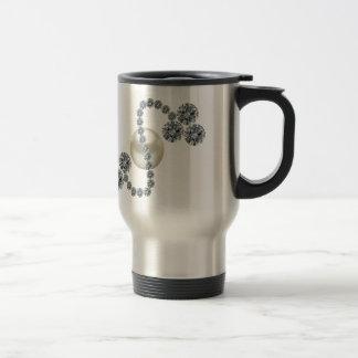 Queen Mary's Three Leaf Clover Bar Brooch Travel Mug