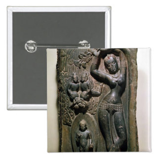 Queen Maya giving birth to the future Buddha 2 Inch Square Button