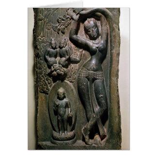 Queen Maya giving birth to the future Buddha Greeting Card