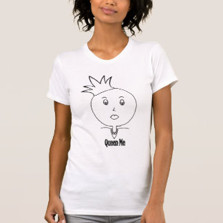 Queen Me Blcck and White T-Shirt