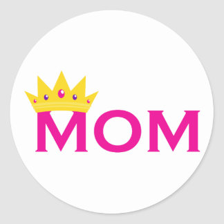 Queen Mom Classic Round Sticker