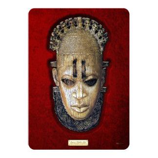 Queen Mother Idia - Ivory Edo Mask on Red Velvet 5x7 Paper Invitation Card