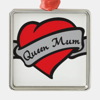 queen mum metal ornament