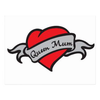 queen mum postcard