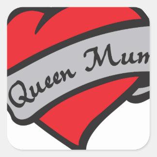 queen mum square sticker