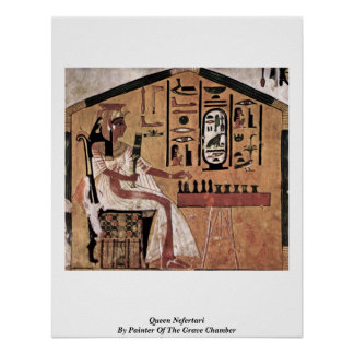 Queen Nefertari By Painter Of The Grave Chamber Poster