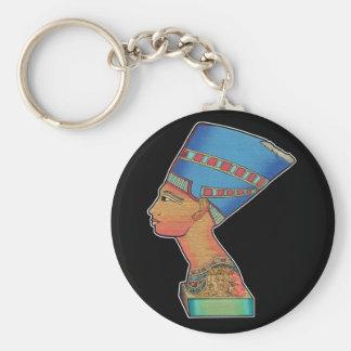 Queen Nefertiti Basic Round Button Keychain