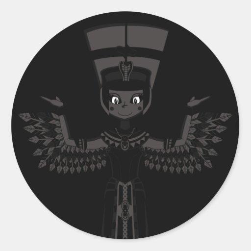 Queen Nefertiti Button Round Sticker