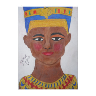 Queen Nefertiti colored pencil canvass Canvas Print