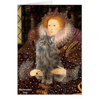 Queen - Norwegian Forest Cat Card