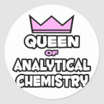 Queen of Analytical Chemistry Classic Round Sticker