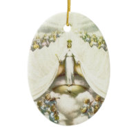 Queen of Angels Christmas Ornament