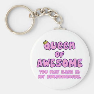 Queen of Awesome Keychain