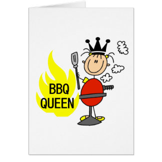 Queen of Barbequeing Card