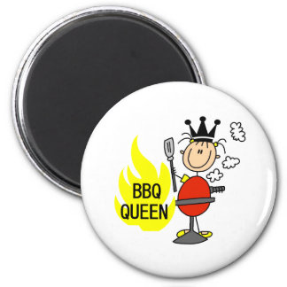 Queen of Barbequeing Magnets
