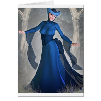 Queen of Blue Greeting Card