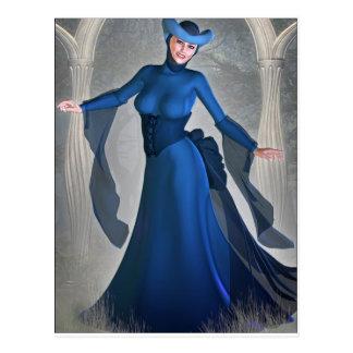 Queen of Blue Postcard