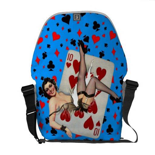 Queen of Broken Hearts Courier Bag